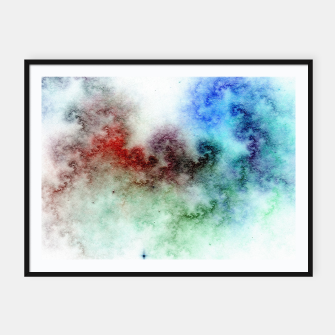 Thumbnail image of White Galaxy Framed poster, Live Heroes