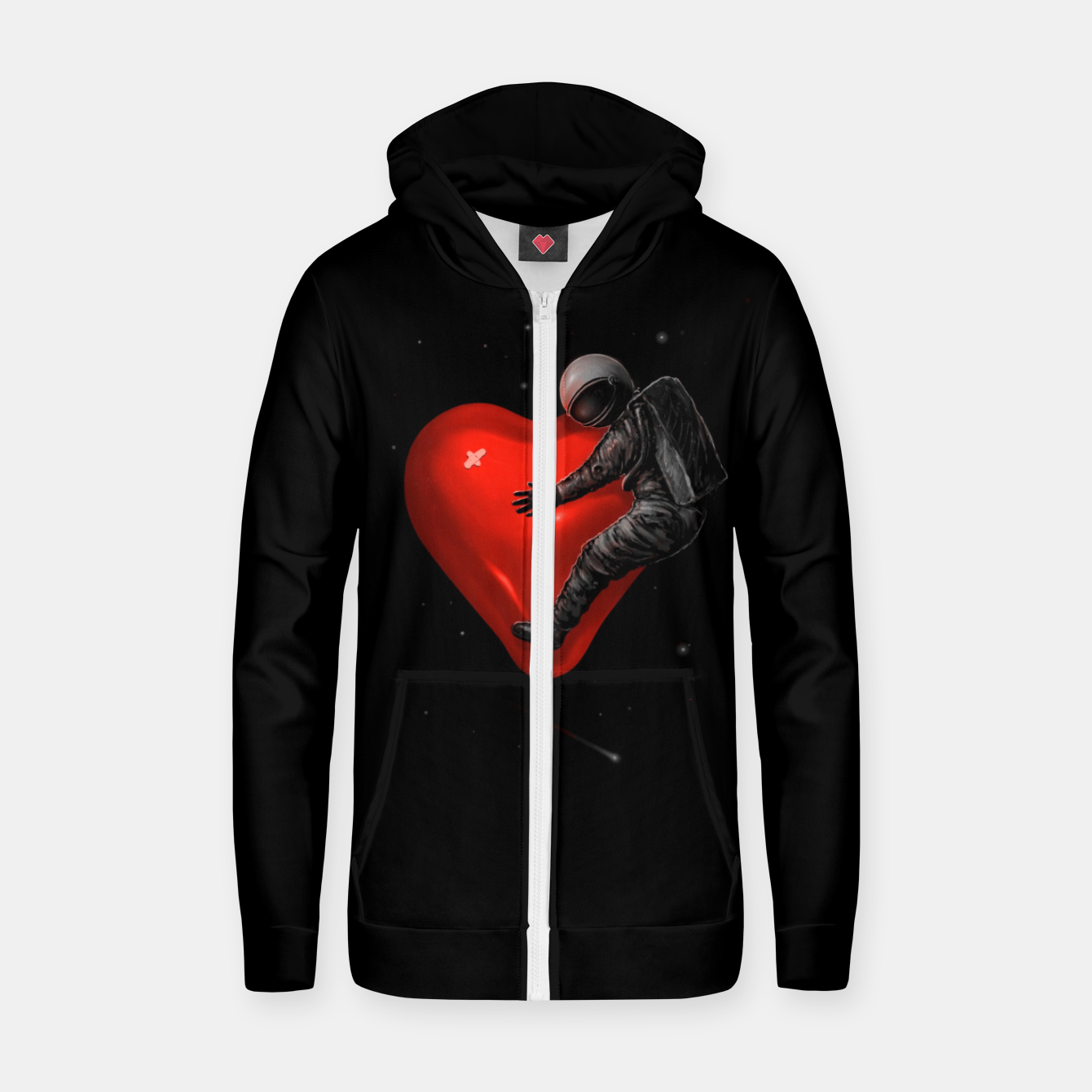 Image of Space Love Zip up hoodie - Live Heroes