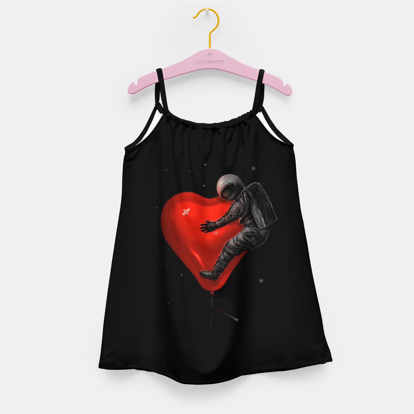 Image of Space Love Girl's dress - Live Heroes