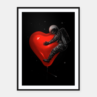 Thumbnail image of Space Love Framed poster, Live Heroes