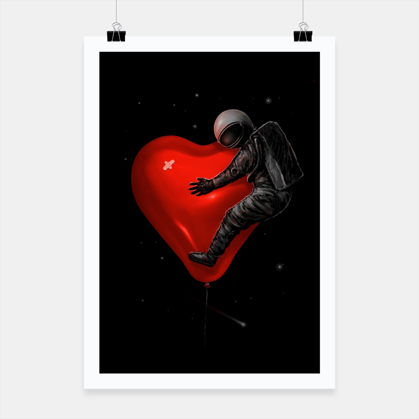 Image of Space Love Poster - Live Heroes