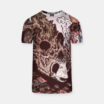 Thumbnail image of Bear Illustration T-shirt, Live Heroes
