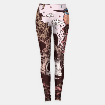 Thumbnail image of Bear Illustration Leggings, Live Heroes