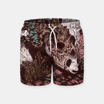 Thumbnail image of Bear Illustration Swim Shorts, Live Heroes
