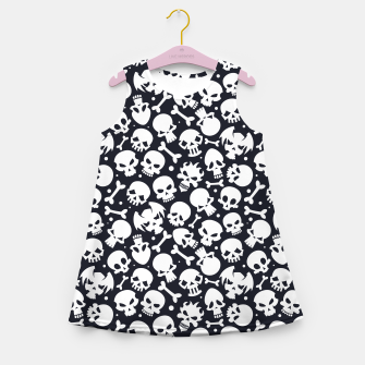 Thumbnail image of Skull Pattern - 06 Girl's summer dress, Live Heroes