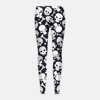 Thumbnail image of Skull Pattern - 06 Girl's leggings, Live Heroes