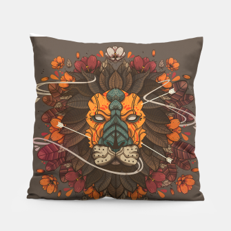 Thumbnail image of Flower Lion Pillow, Live Heroes