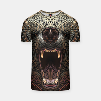 Thumbnail image of Angry Grizzly Bear T-shirt, Live Heroes