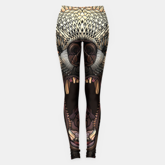 Miniature de image de Angry Grizzly Bear Leggings, Live Heroes