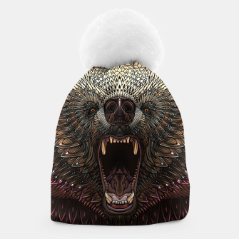Miniature de image de Angry Grizzly Bear Beanie, Live Heroes