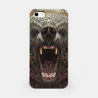 Miniature de image de Angry Grizzly Bear iPhone Case, Live Heroes