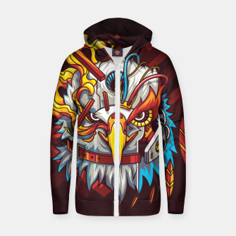 Miniatur Electric Eagle Zip up hoodie, Live Heroes
