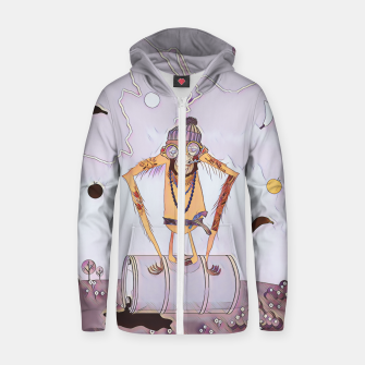 Thumbnail image of Monkey Zip up hoodie, Live Heroes