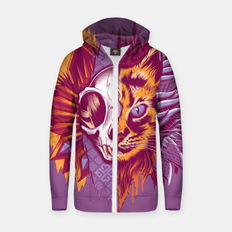 Thumbnail image of Four Faces Zip up hoodie, Live Heroes