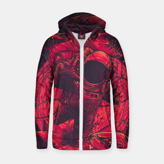 Thumbnail image of Escaping Space Zip up hoodie, Live Heroes