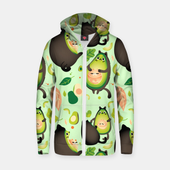 Thumbnail image of Avocados and Cats Zip up hoodie, Live Heroes