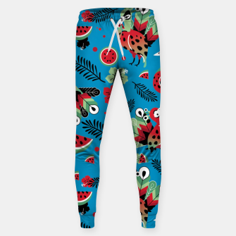 Thumbnail image of Peacocks and Watermelons Sweatpants, Live Heroes