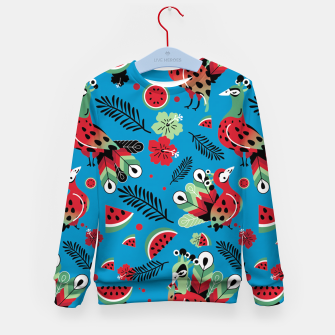 Thumbnail image of Peacocks and Watermelons Kid's sweater, Live Heroes