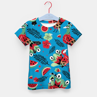 Thumbnail image of Peacocks and Watermelons Kid's t-shirt, Live Heroes