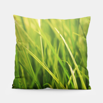 Thumbnail image of Grass Texture Pillow, Live Heroes