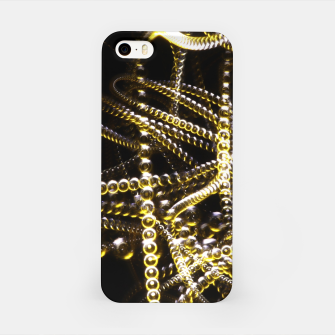 Miniatur Abstract White and Yellow Light Effect iPhone Case, Live Heroes