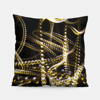 Miniatur Abstract White and Yellow Light Effect Pillow, Live Heroes