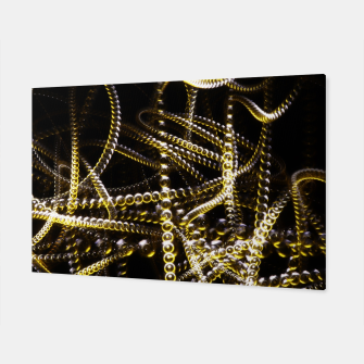 Miniatur Abstract White and Yellow Light Effect Canvas, Live Heroes