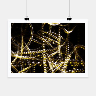 Miniatur Abstract White and Yellow Light Effect Poster, Live Heroes