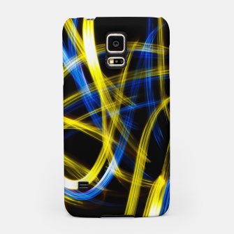 Miniatur Abstract Yellow and Blue Light Effect Samsung Case, Live Heroes