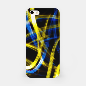 Miniatur Abstract Yellow and Blue Light Effect iPhone Case, Live Heroes
