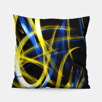 Miniatur Abstract Yellow and Blue Light Effect Pillow, Live Heroes