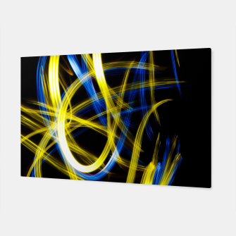 Miniatur Abstract Yellow and Blue Light Effect Canvas, Live Heroes