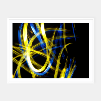 Miniatur Abstract Yellow and Blue Light Effect Framed poster, Live Heroes