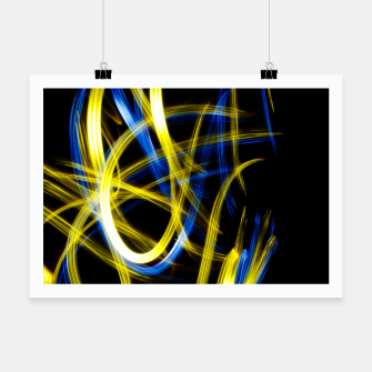 Miniatur Abstract Yellow and Blue Light Effect Poster, Live Heroes