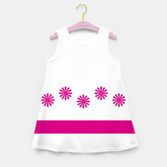 Thumbnail image of Magenta Flowers Design Girl's summer dress, Live Heroes