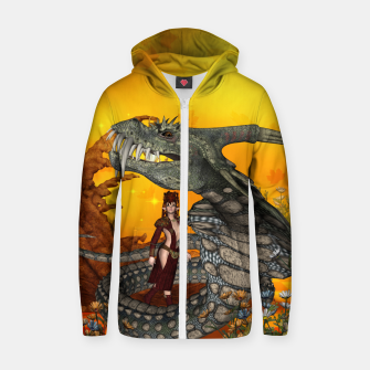 Thumbnail image of awesome fantasy cobra with fairy Zip up hoodie, Live Heroes