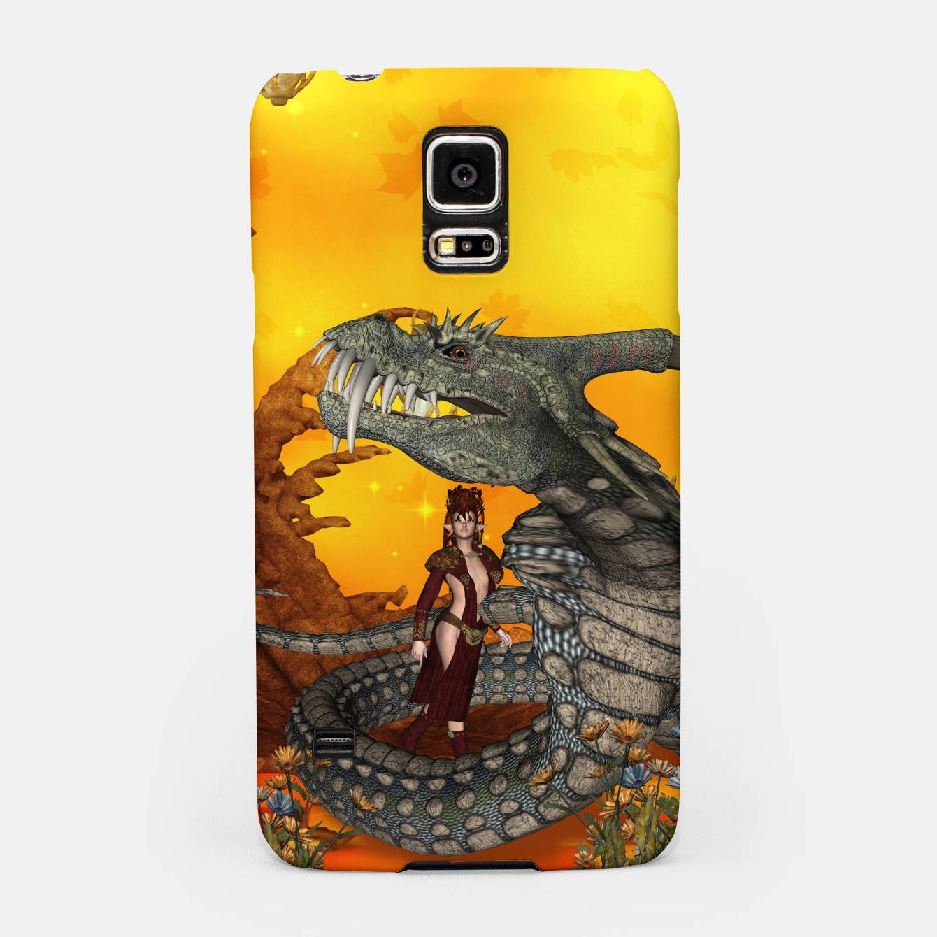 Image of awesome fantasy cobra with fairy Samsung Case - Live Heroes