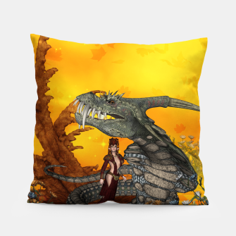 Thumbnail image of awesome fantasy cobra with fairy Pillow, Live Heroes