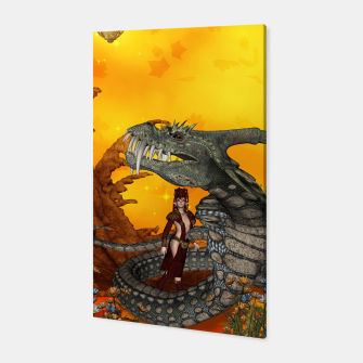 Miniature de image de awesome fantasy cobra with fairy Canvas, Live Heroes