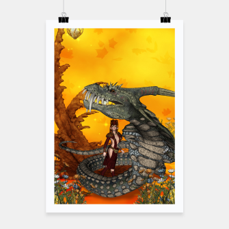 Thumbnail image of awesome fantasy cobra with fairy Poster, Live Heroes