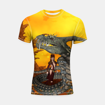 Thumbnail image of awesome fantasy cobra with fairy Shortsleeve rashguard, Live Heroes