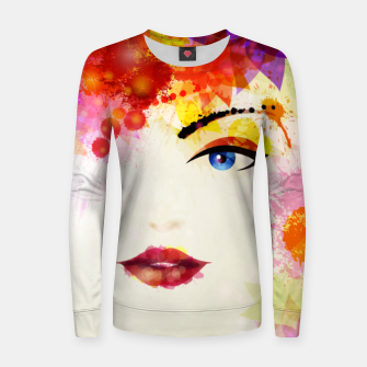 Thumbnail image of Glossy Face Women sweater, Live Heroes