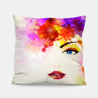 Thumbnail image of Glossy Face Pillow, Live Heroes