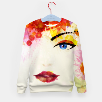 Thumbnail image of Glossy Face Kid's sweater, Live Heroes