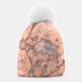 Thumbnail image of Marble Orange Quartz Pattern Beanie, Live Heroes