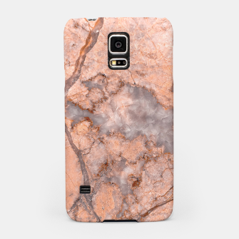 Thumbnail image of Marble Orange Quartz Pattern Samsung Case, Live Heroes