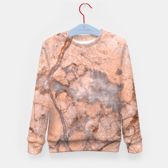 Thumbnail image of Marble Orange Quartz Pattern Kid's sweater, Live Heroes