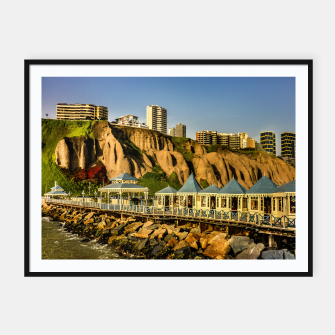 Thumbnail image of Lima Peru Coastal Scene Photo Framed poster, Live Heroes