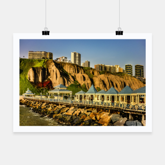 Thumbnail image of Lima Peru Coastal Scene Photo Poster, Live Heroes