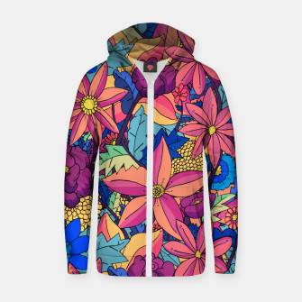 Thumbnail image of flowers upon flowers 2 Zip up hoodie, Live Heroes
